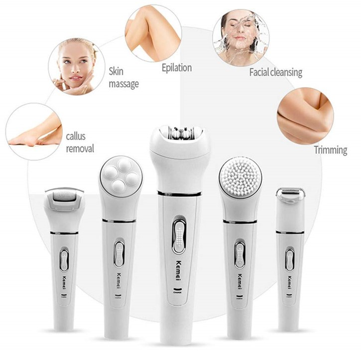 5 in 1 Best Rated Epilator For Hair Removal Review.